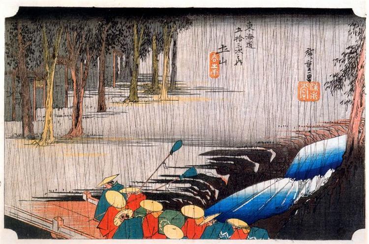 Tsuchi-yama - Hiroshige