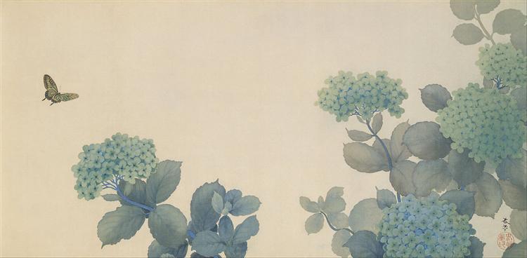 Hydrangeas, 1902 - Hishida Shunsō