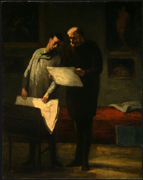 Advice to a Young Artist, 1860 - Honore Daumier