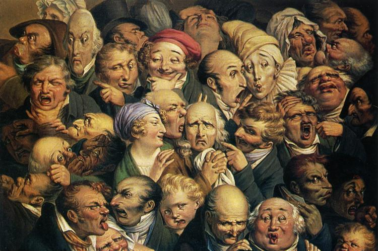 Meeting of thirty-five heads of expression - Honore Daumier ...
