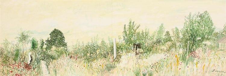 Landscape with Column, 1987 - Horia Bernea