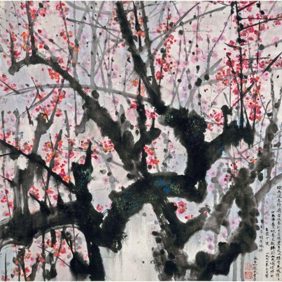 Plum Blossoms, 1974 - Huang Yongyu