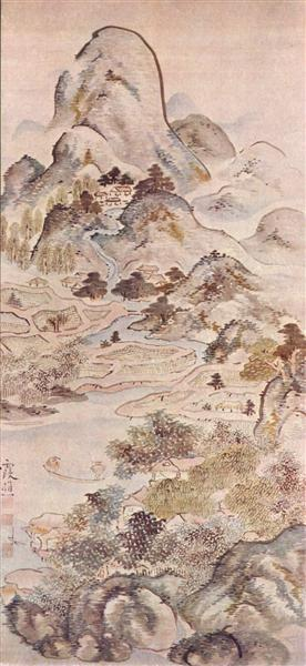 Fishing in Springtime, 1747 - Ike no Taiga