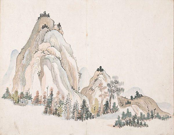 Untitled (Mountains) - Ike no Taiga