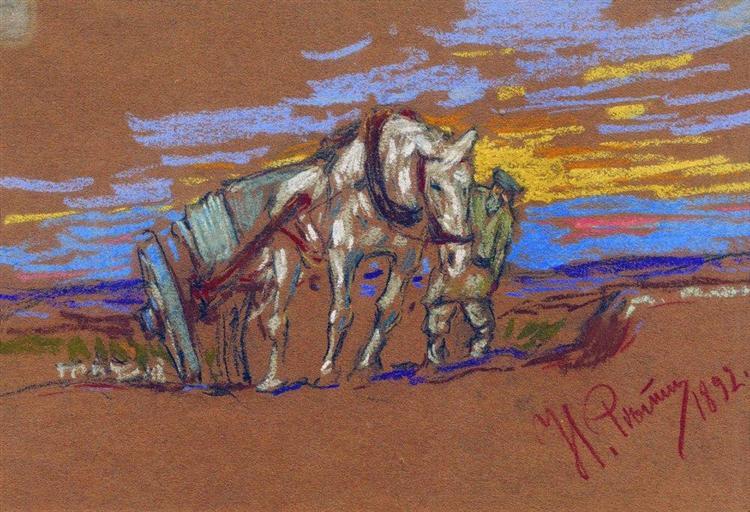 Carrying Horse, 1892 - Ilya Repin