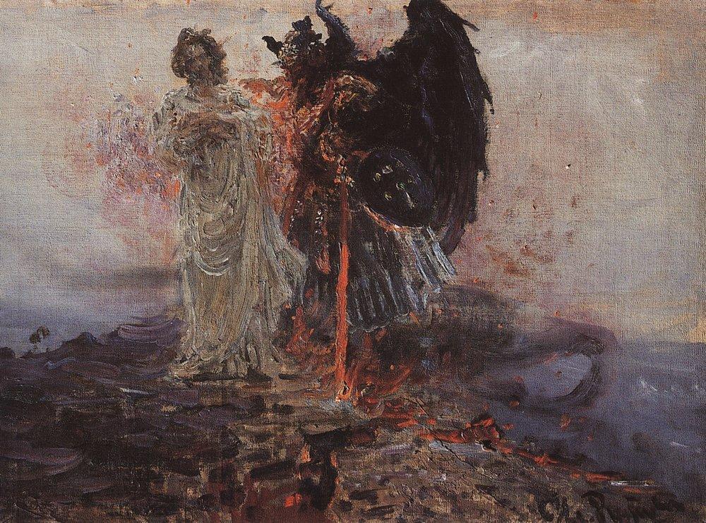 Follow me, Satan, 1895 - Ilya Repin - WikiArt.org