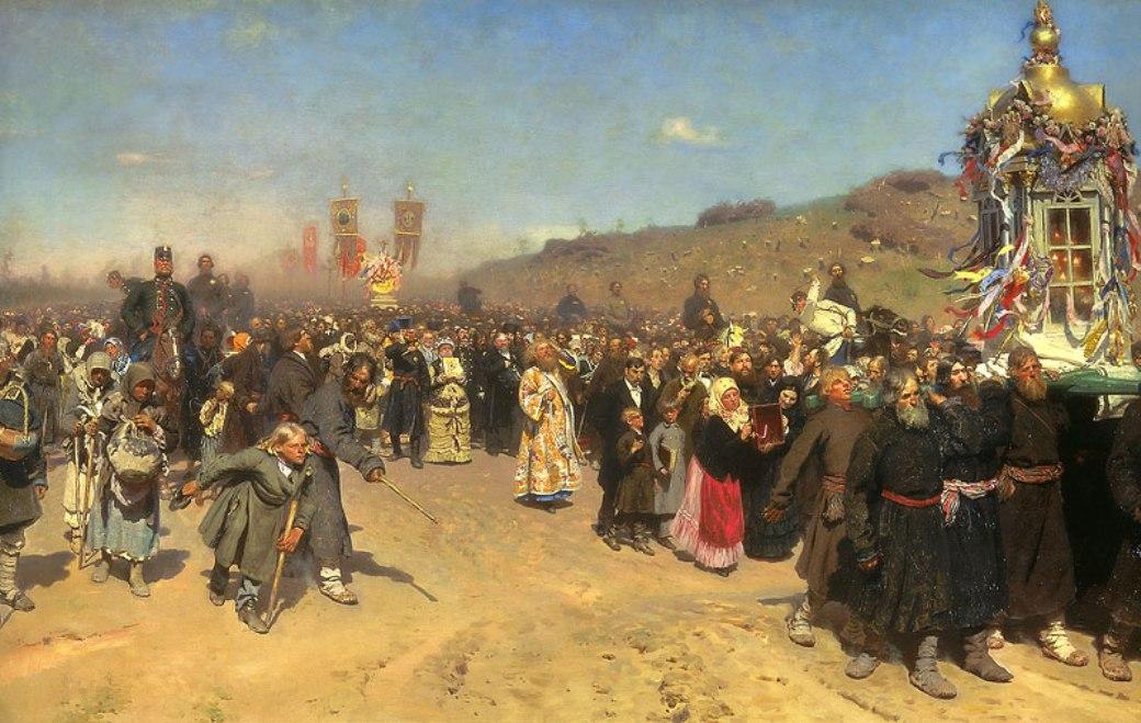 Krestny Khod (Religious Procession) in Kursk Gubernia - Ilya Repin ...