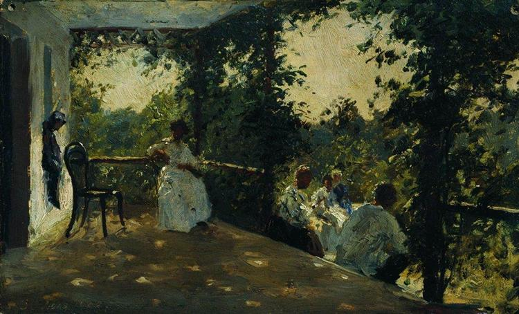 On the terrace, 1908 - Ilya Repin