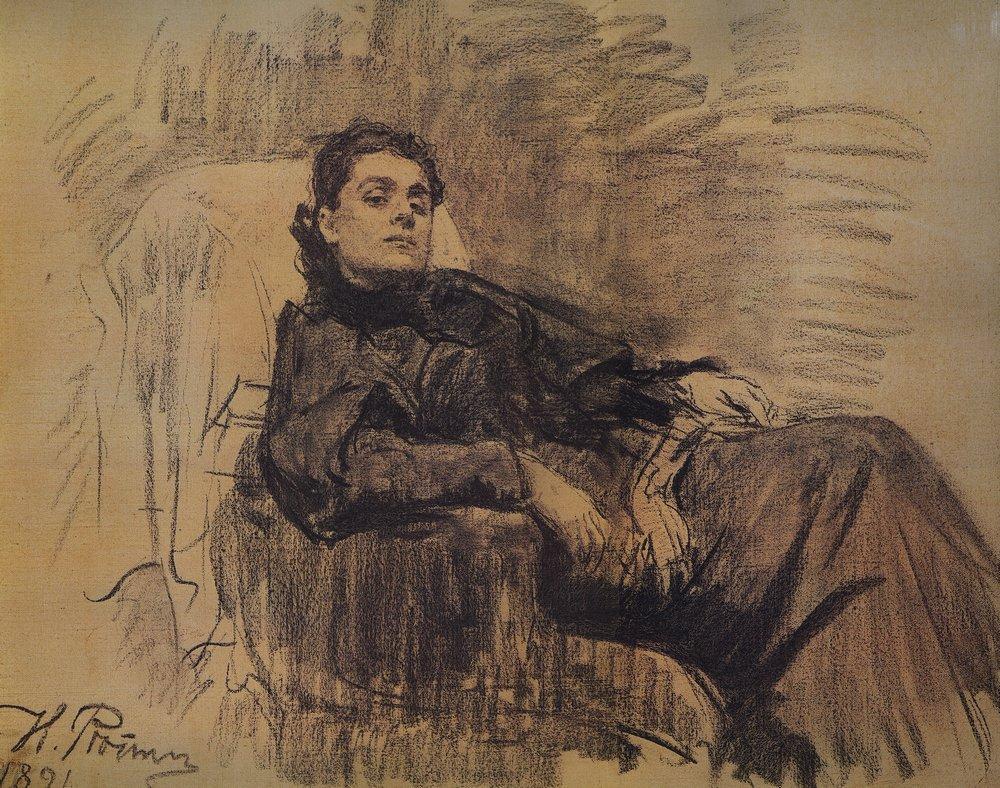 Portrait of actress Eleonora Duse, 1891