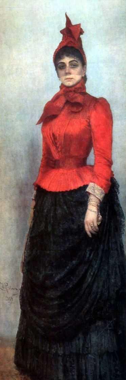 Portrait of Baroness Varvara Ikskul von Hildenbandt, 1889