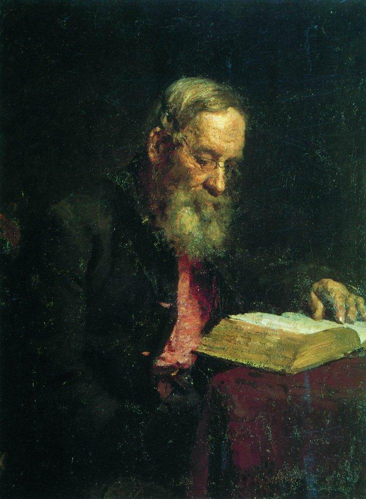 Portrait of efim repin the artist s father