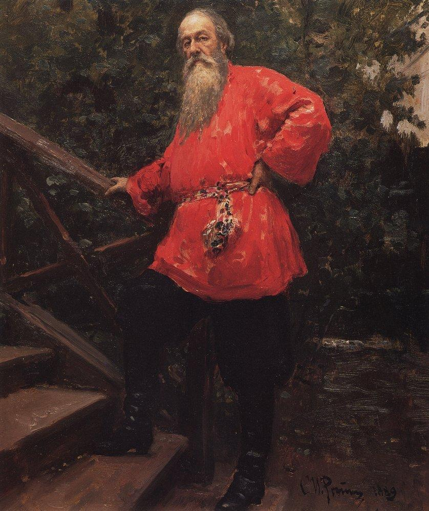 Portrait of the Art Critic Vladimir Stasov, 1889