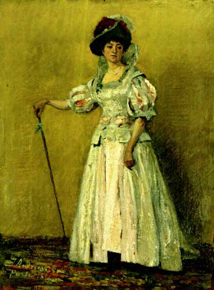 Portrait of woman in a costume, 1882