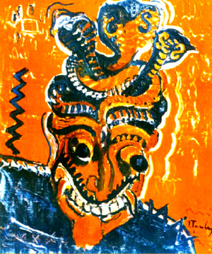 African Mask, 1939 - Ion Tuculescu