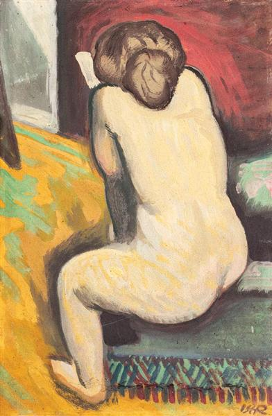 Nude with Book, 1909 - Iosif Iser