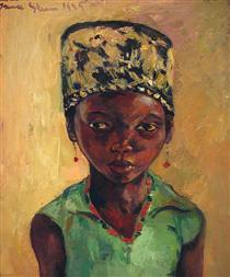 Portrait of a Young Girl - Irma Stern