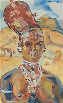 Portrait of a Zulu woman - Irma Stern