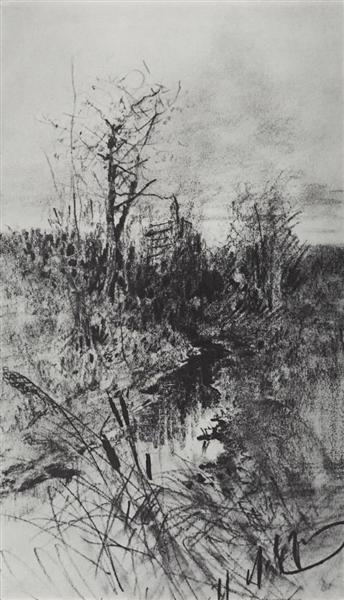 A creek, c.1885 - Isaac Levitan