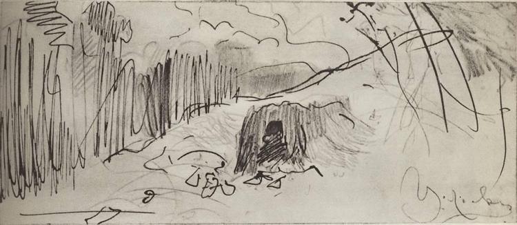 A hovel, c.1885 - Isaac Levitan