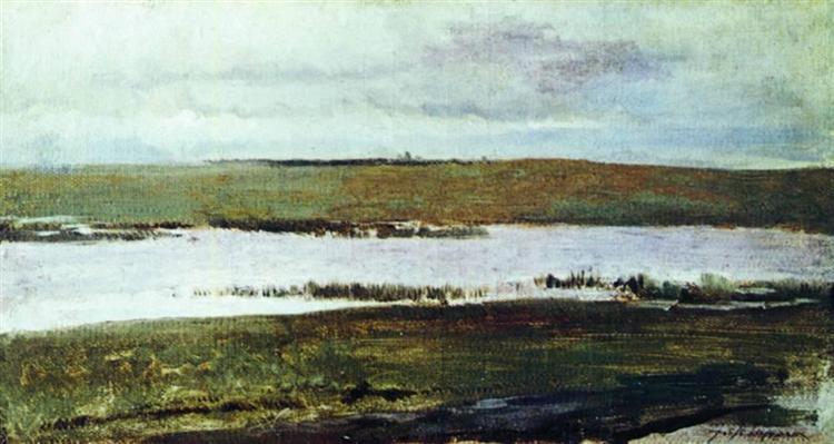 A river, c.1895 - Isaac Levitan