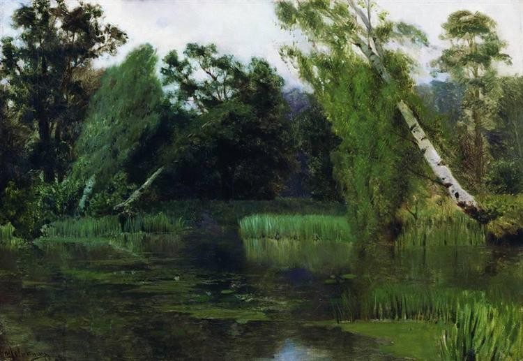 At the park, 1880 - Isaac Levitan