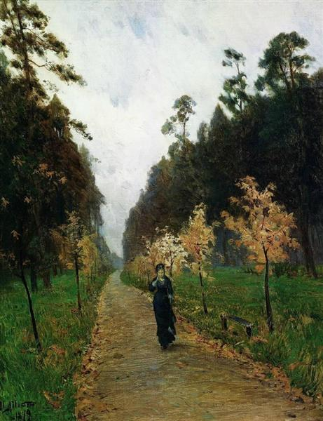 Autumn day, Sokolniki, 1879 - Isaak Iljitsch Lewitan