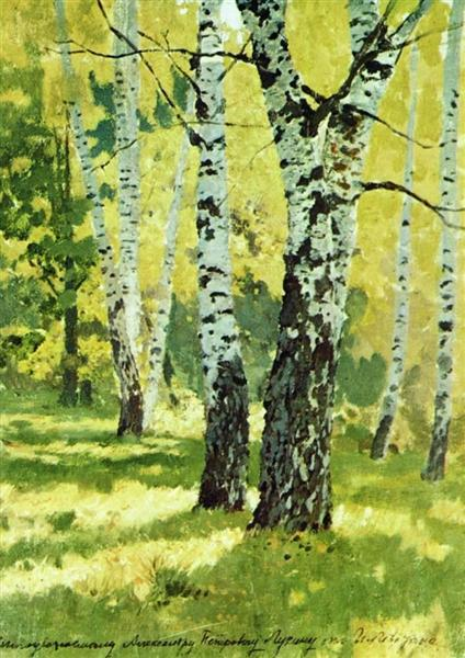 Birch grove, 1878 - Isaak Iljitsch Lewitan