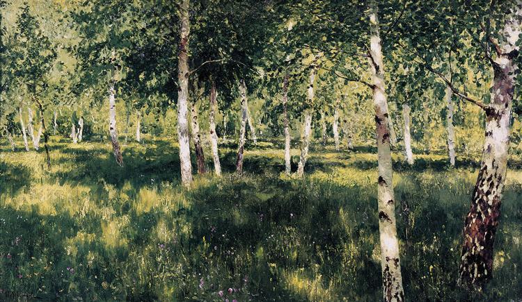 Birch grove, 1889 - Isaac Levitan