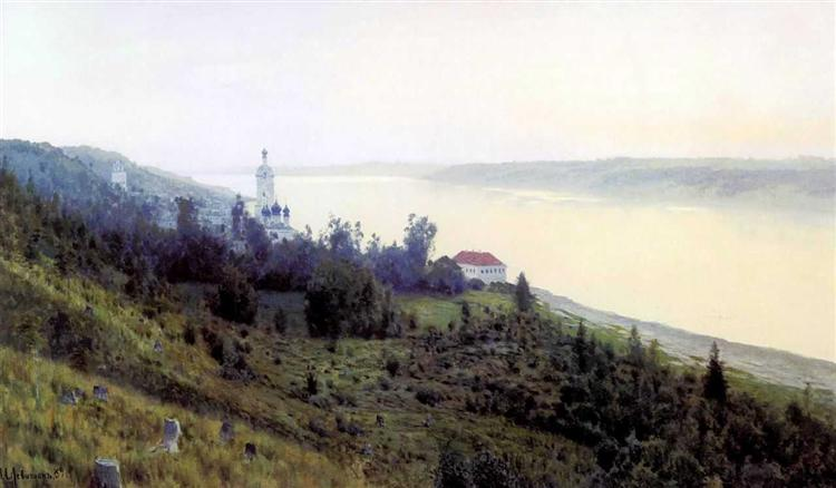 Evening. Golden Plyos., 1889 - Isaac Levitan