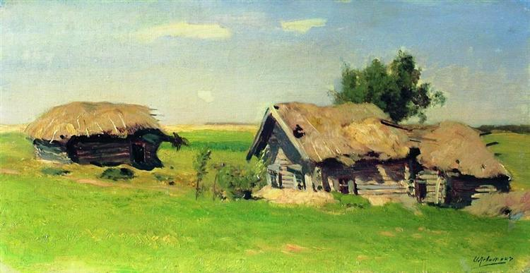 Landscape with isbas, 1885 - Isaac Levitan