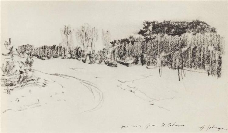 Winter path in the forest, c.1899 - Isaac Levitan