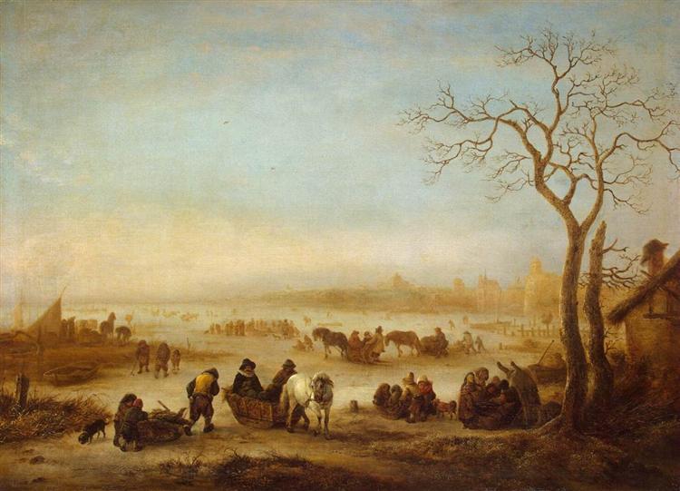 A Frozen Lake, 1648 - Isaac van Ostade