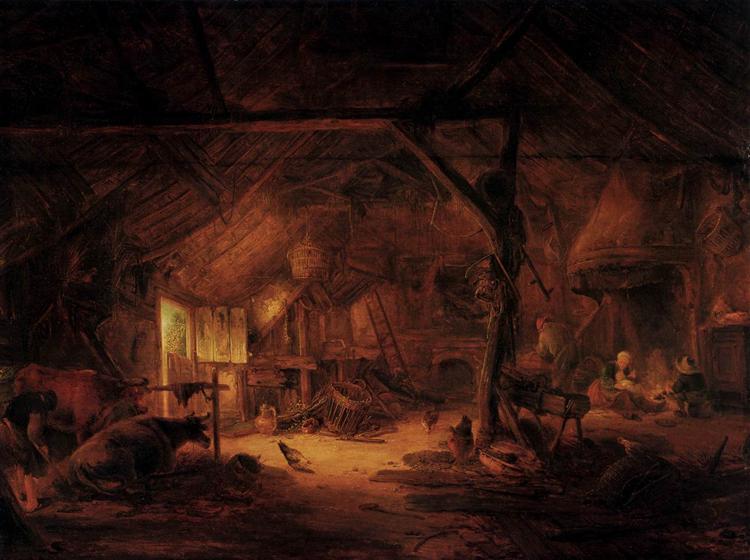 Barn Interior, 1645 - Isaac van Ostade
