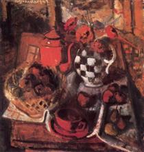 Red Still-life - Иштван Илошваи Варга
