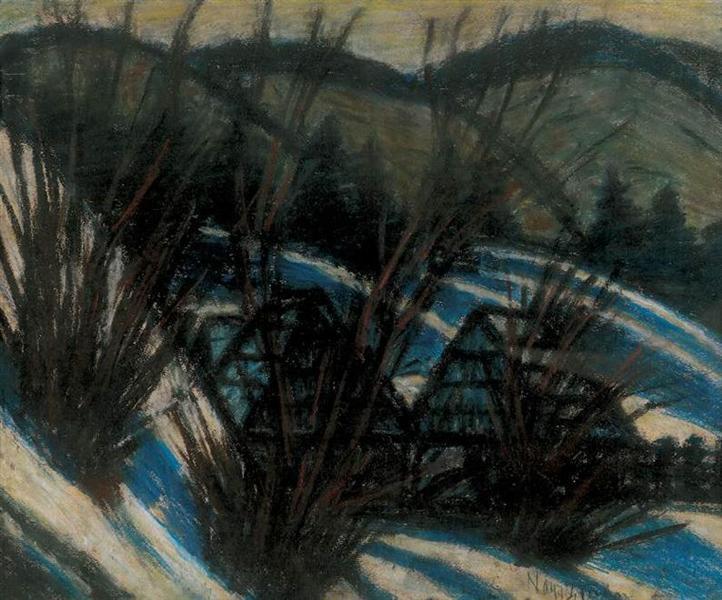 Hills with blue shades, 1932 - Istvan Nagy