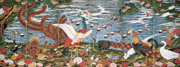 Birds, Animals, and Flowering Plants in Imaginary Scene - Ito Jakuchu