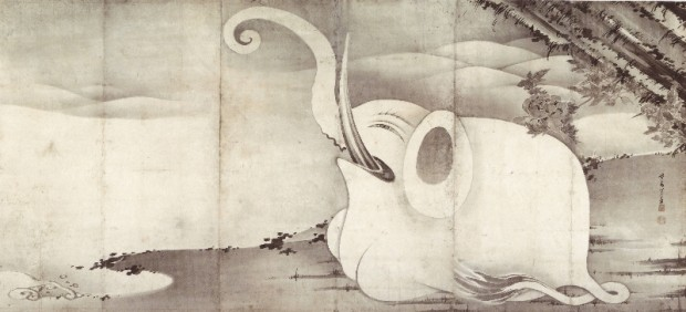 Elephant and Whale (diptych)