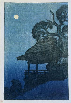 Evening Scene at Ishiyama Temple, 1917 - Ito Shinsui