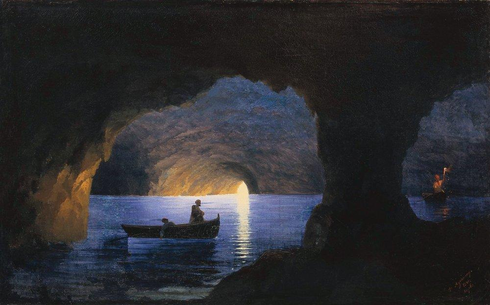 Azure Grotto. Naples, 1841