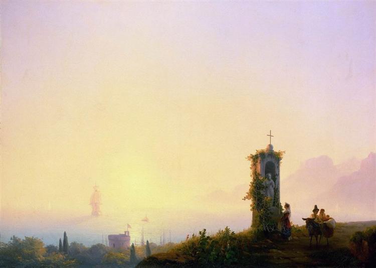 Chapel on seashore, 1847 - Ivan Aivazovsky