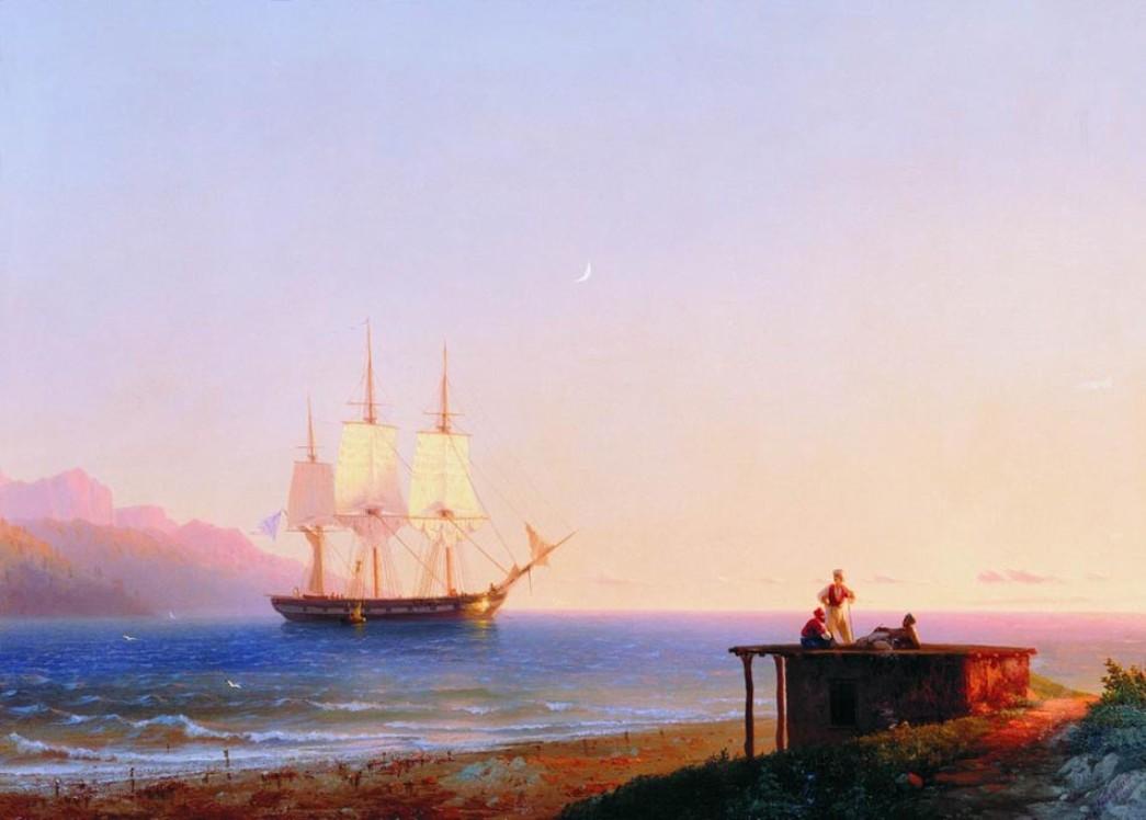 Frigate under sails, 1838