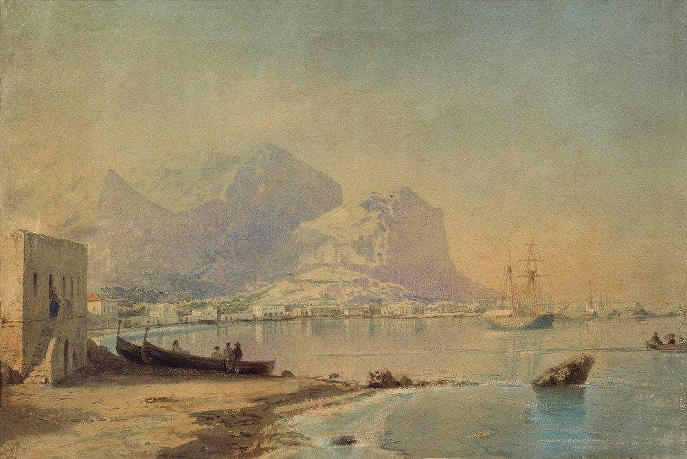 In harbour, 1842