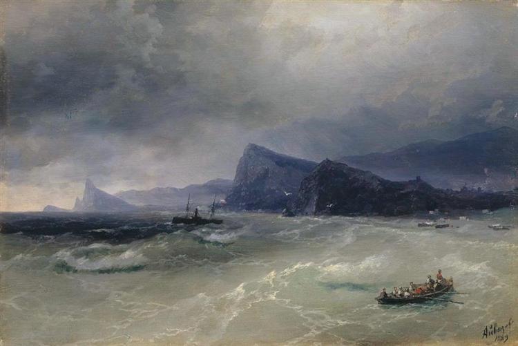 Sea. Rocks, 1889 - Ivan Aivazovsky