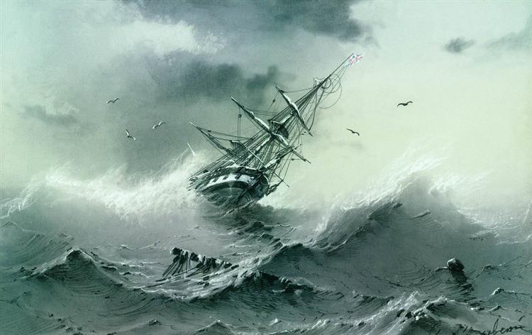 Shipwreck, 1854 - Ivan Aivazovsky