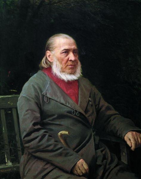 Portrait of Sergei Timofeevich Aksakov, 1878 - Ivan Kramskoy