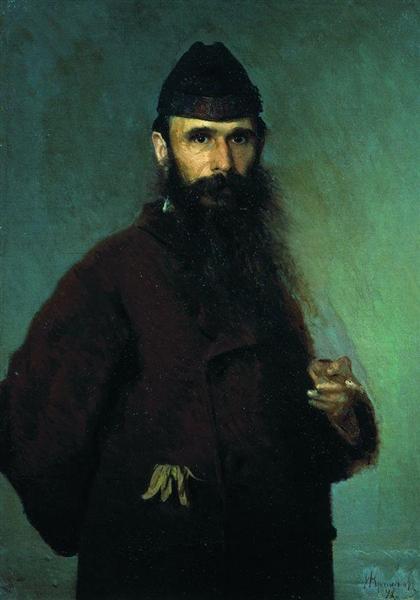 Portrait of the artist Alexander Dmitrievich Litovchenko, 1878 - Ivan Kramskoy