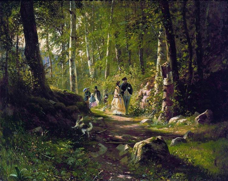 A Walk in the Forest - Iván Shishkin