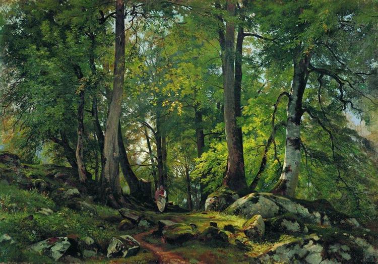 Beech Forest in Switzerland, 1863 - Ivan Shishkin