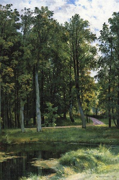 Forest road, 1897 - Iván Shishkin