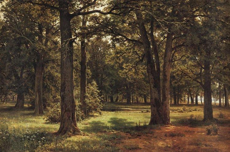 Oaks of Peter the Great in Sestroretsk, 1886 - Ivan Shishkin